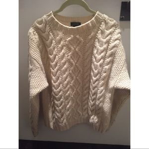 J. Crew Vintage Cable Knit Wool Sweater